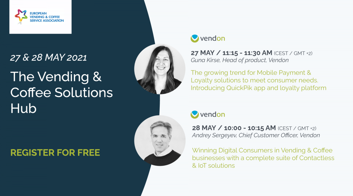 Don't miss Vendon innovation speeches at Vending & Coffee Solutions Hub